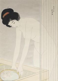 顔を洗う女 (Woman Washing Her Face)