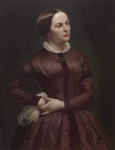 Portrait of Mary Buckler Woodville in Historical Costume