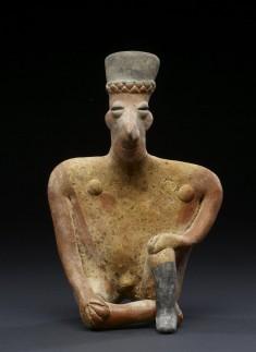 Seated Male (?) Figure