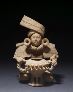 Seated Male Figure with Incense Burner
