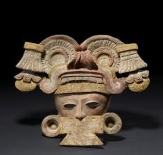 Warrior Face (Incense Burner Fragment)
