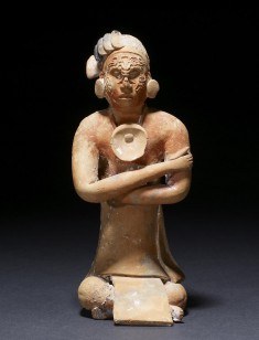 Seated Nobleman Ocarina (Vessel Flute)