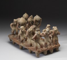 Processional Scene (Men Carrying Pulque Jars)