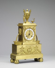 Clock with Rectangular Base in the Form of a Fountain