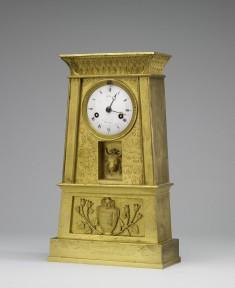Ormolu Clock in the Form of an Egyptian Pylon