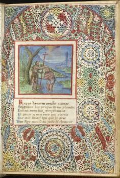 Leaf from Lace Book of Marie de' Medici: John the Baptist Baptizing Christ