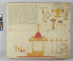 Illustrated Manuscript with royal regalia