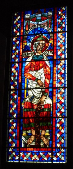 Stained Glass Window with the Prophet Habbakuk