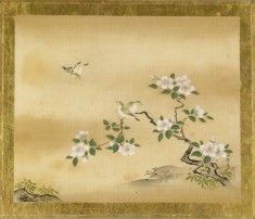Green Birds and Camellia Branch