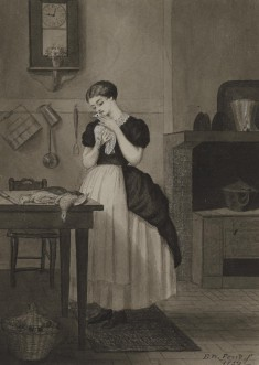 Young Cook Caressing A Dead Bird