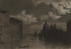 Venice, the Grand Canal at Night