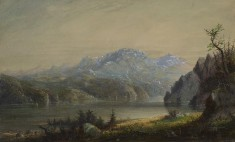Lake and Mountain Scene