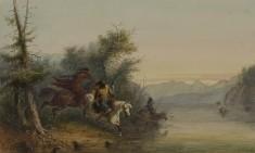 Snake Indians: Fording a River