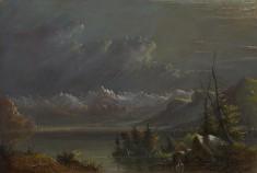 Lake Scene - Rocky Mts.