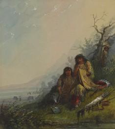 Indian Woman Making the War Dress