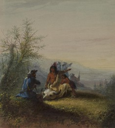 Group of a Mountaineer and Kansas Indian