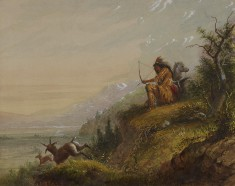 A Pawnee Indian Shooting Antelope
