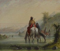 Indian Girls Watering Horses (Eau Sucre River)