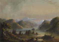 Lake Scene with River Mountain