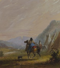 Indian Women on Horseback in the Vicinity of the Cut Rocks
