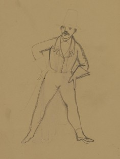 Untitled: Sketch for Françoise Ravel as Starchington [Verso: a Related Sketch]