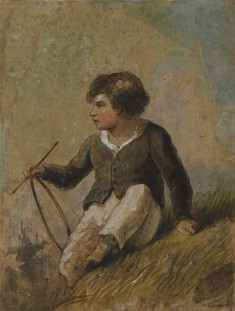 Young Boy with Hoop and Stick