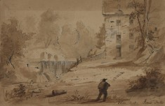 View of a House and Falls