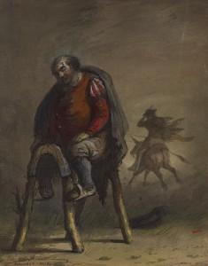Passemont Stealing Sancho's Mule (from M. de Cervantes, Don Quixote)