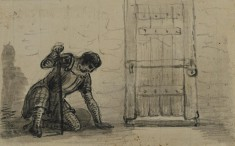 Guard Crouching by Prison Cell Door (from Sir Walters Scott, Legend of Montrose, 1819)