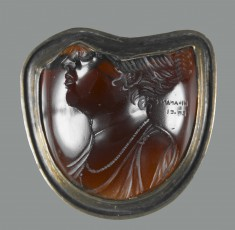 Intaglio with Bust of a Ptolemaic Queen Set in a Mount
