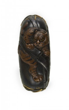 Kashira with a Tiger in Bamboo