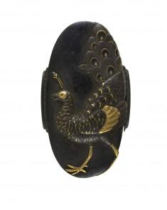 Kashira with Peacock