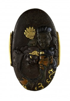 Kashira with the Chinese Generals Kanyu, Gentoku and Chohi