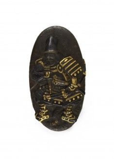 Kashira with Samurai