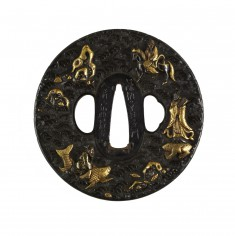 Tsuba with Taoist Immortals and Their Animals