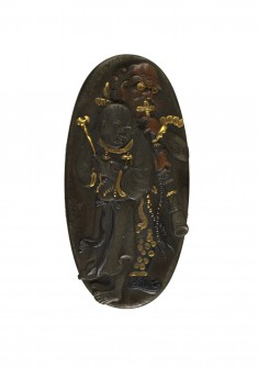 Kashira with Two Figures