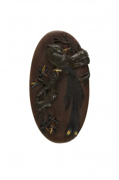 Kashira with a Pheasant in a Maple Tree