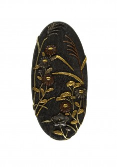 Kashira with Autumn Flowers
