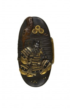 Kashira with a Samurai under a Pine Tree