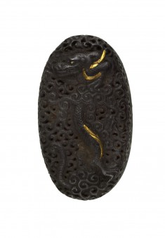 Kashira with Dragon in Clouds