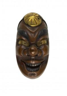 Kashira with Yamabushi Tengu Mask