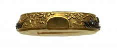 Fuchi with Autumn Flowers