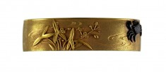 Fuchi with Crab and Water Plants