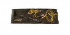 Fuchi with Orchids and Bamboo