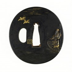 Tsuba with the Chinese General Soso