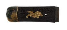 Tsuka with Hawk and Chinese Lions