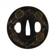 Tsuba with Chinese Fans