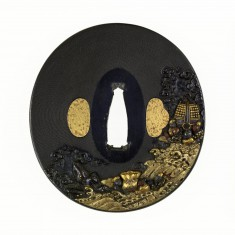 Tsuba with the Dragon King's Gifts to Hidesato