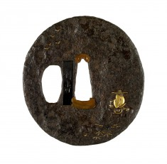 Tsuba with the Chinese Poet Tôba (Ch. Su Shi [Su Shih]) in Exile