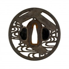 "Tsuba with the Eight-plank Bridge (Yatsuhashi) from the ""Tales of Ise"""